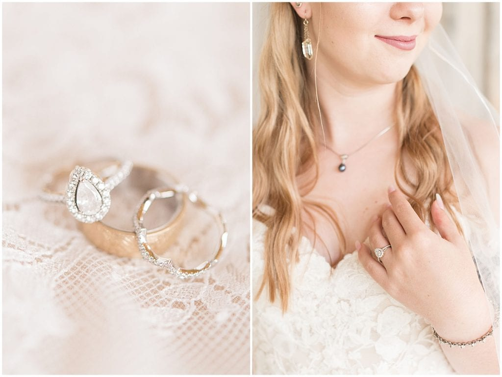 Bridal details for Whippoorwill Hill wedding in Bloomington, Indiana by Victoria Rayburn Photography