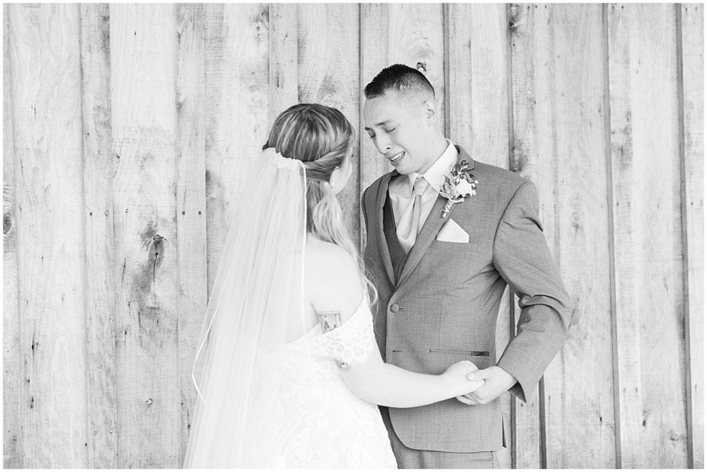First look for Whippoorwill Hill wedding in Bloomington, Indiana by Victoria Rayburn Photography