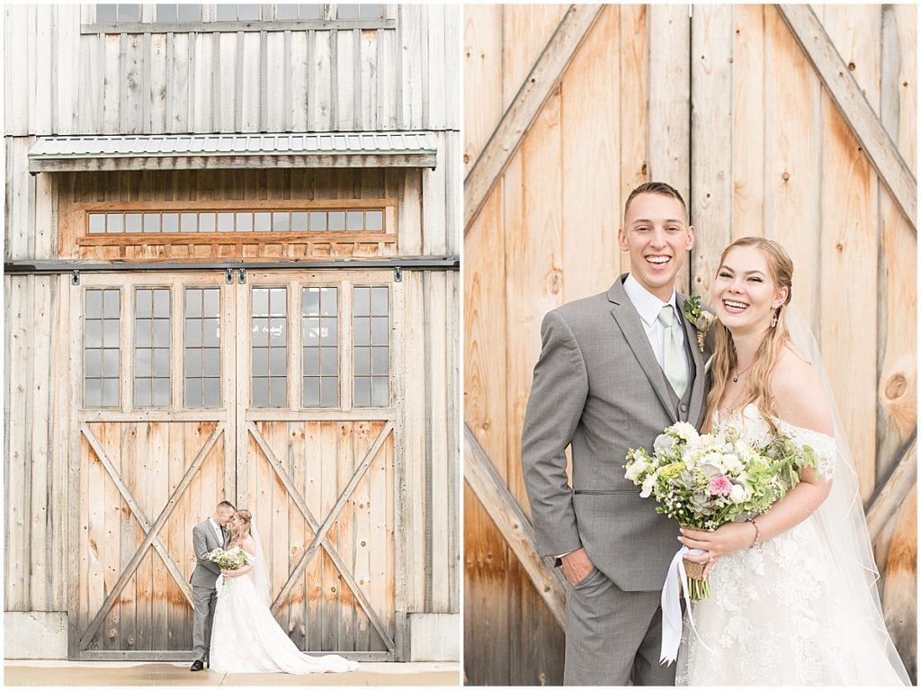 Bride and groom portraits for Whippoorwill Hill wedding in Bloomington, Indiana by Victoria Rayburn Photography