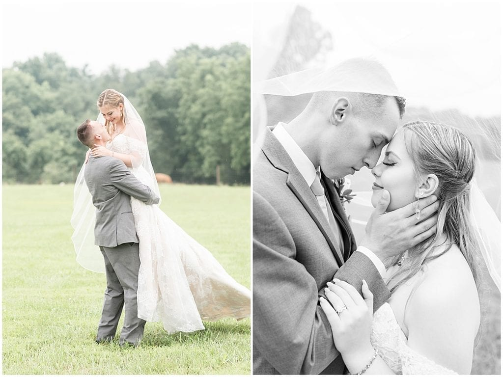 Just married photos after Whippoorwill Hill wedding in Bloomington, Indiana by Victoria Rayburn Photography