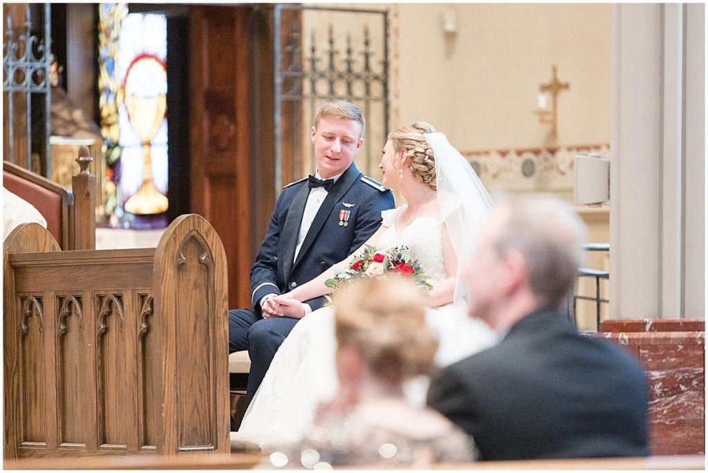 Ceremony at the Cathedral of Saint Mary in Lafayette, Indiana