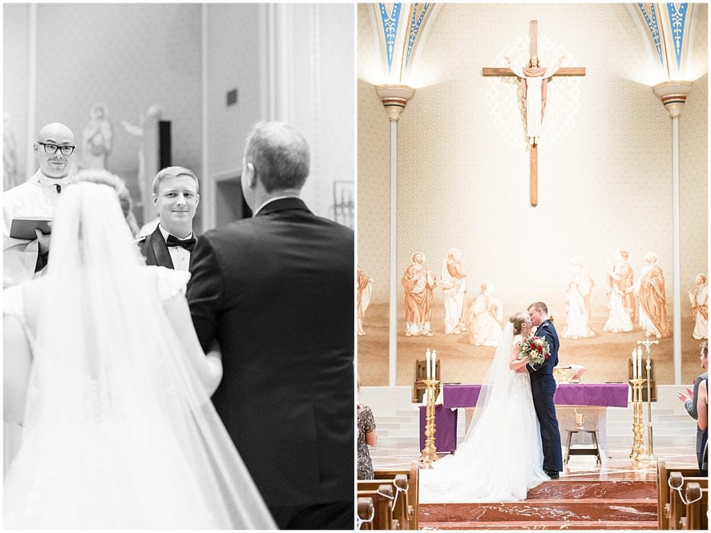 winter wedding at the Cathedral of Saint Mary in Lafayette, Indiana by Victoria Rayburn Photography