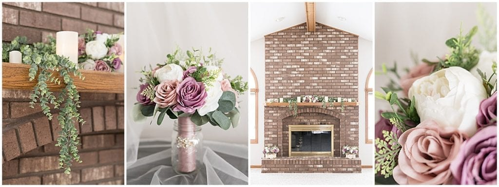 Ceremony details for at-home, socially distanced wedding in Tinley Park, Illinois