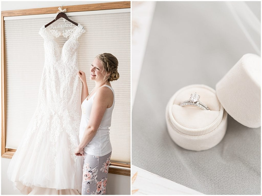 Bridal details for at-home, socially distanced wedding in Tinley Park, Illinois