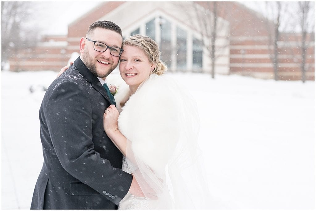Just married wedding photos at Trinity Christian College in Chicago, Illinois