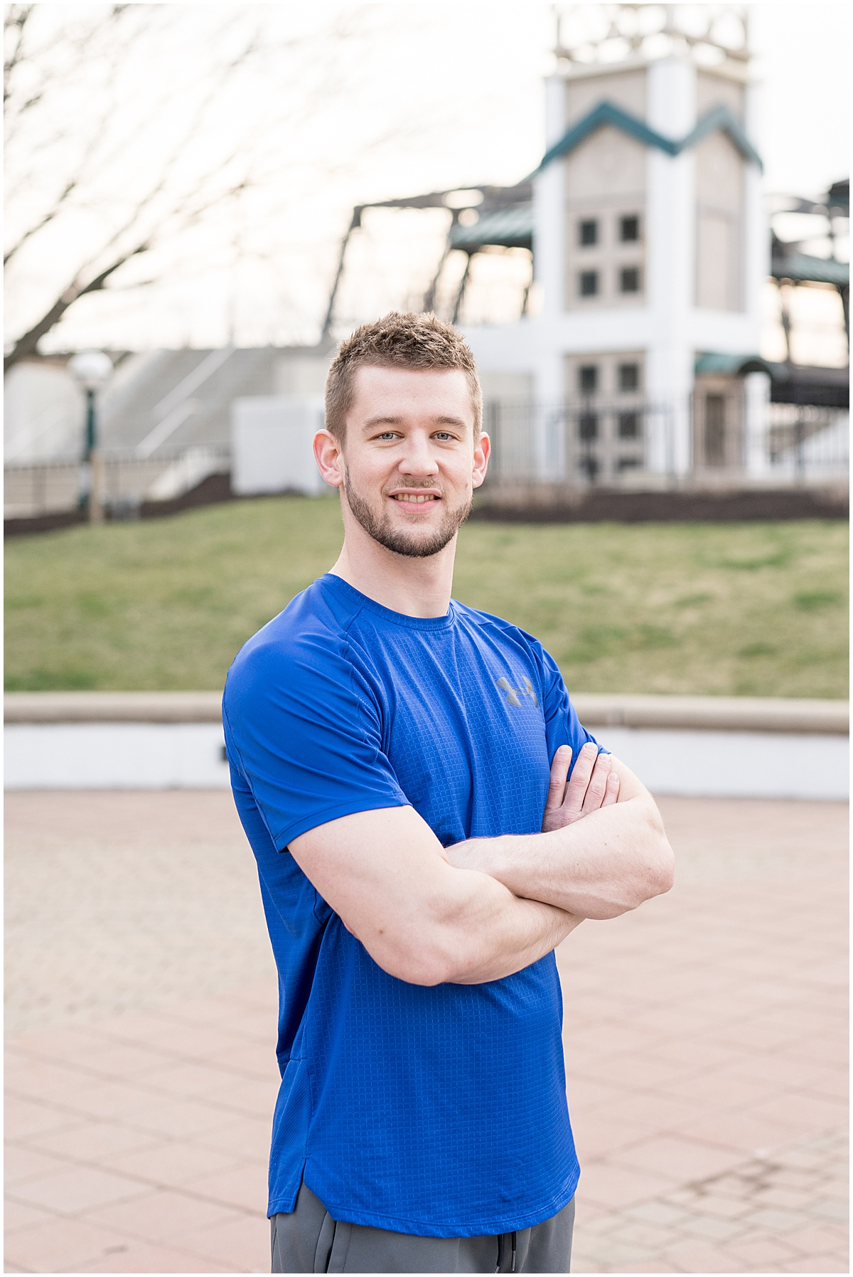 Personal Trainer Frank Brenda's personal trainer branding photos in downtown Lafayette, Indiana