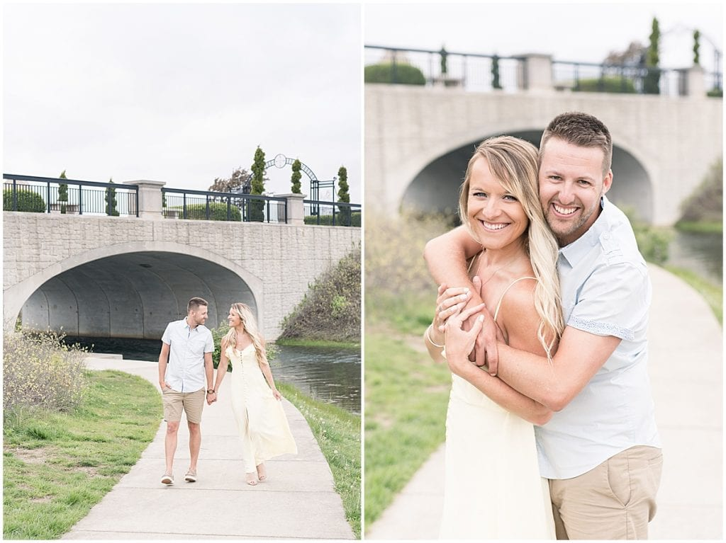 Coxhall Gardens Engagement Photos in Carmel, Indiana
