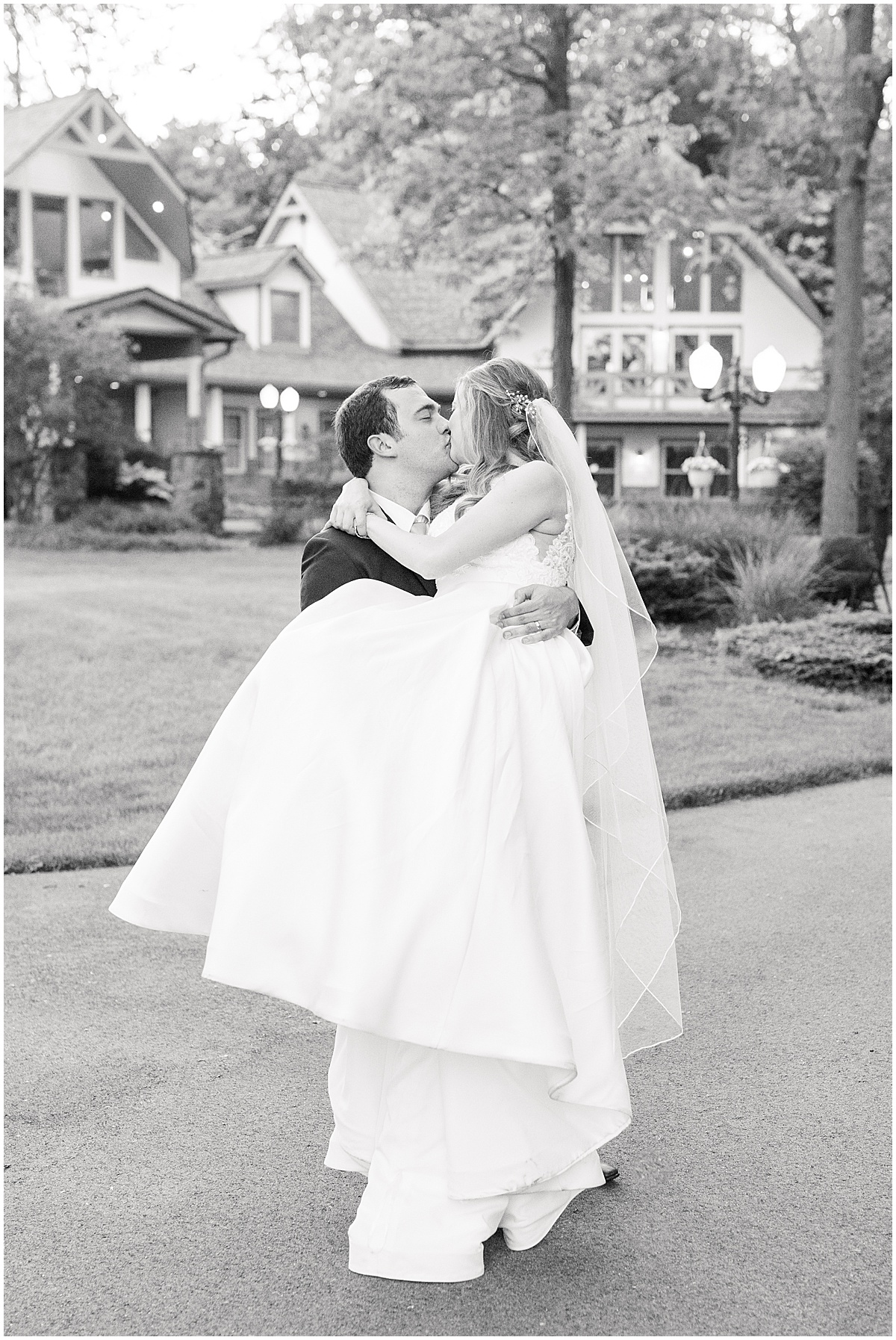 Sunset photos after Lizton Lodge Wedding in Lizton, Indiana