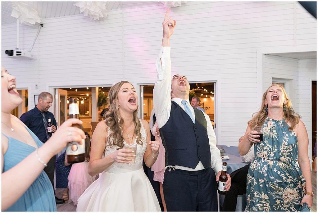 Fun Reception Singing at Lizton Lodge Wedding in Lizton, Indiana