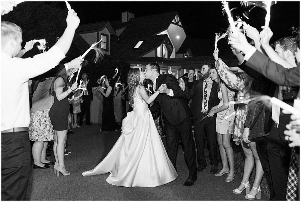 Grand Exit at Lizton Lodge Wedding in Lizton, Indiana