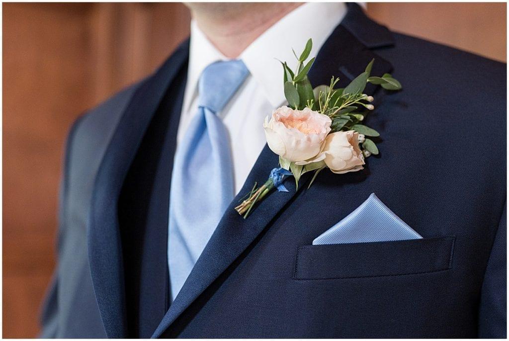 Groom getting ready for Lizton Lodge Wedding in Lizton, Indiana