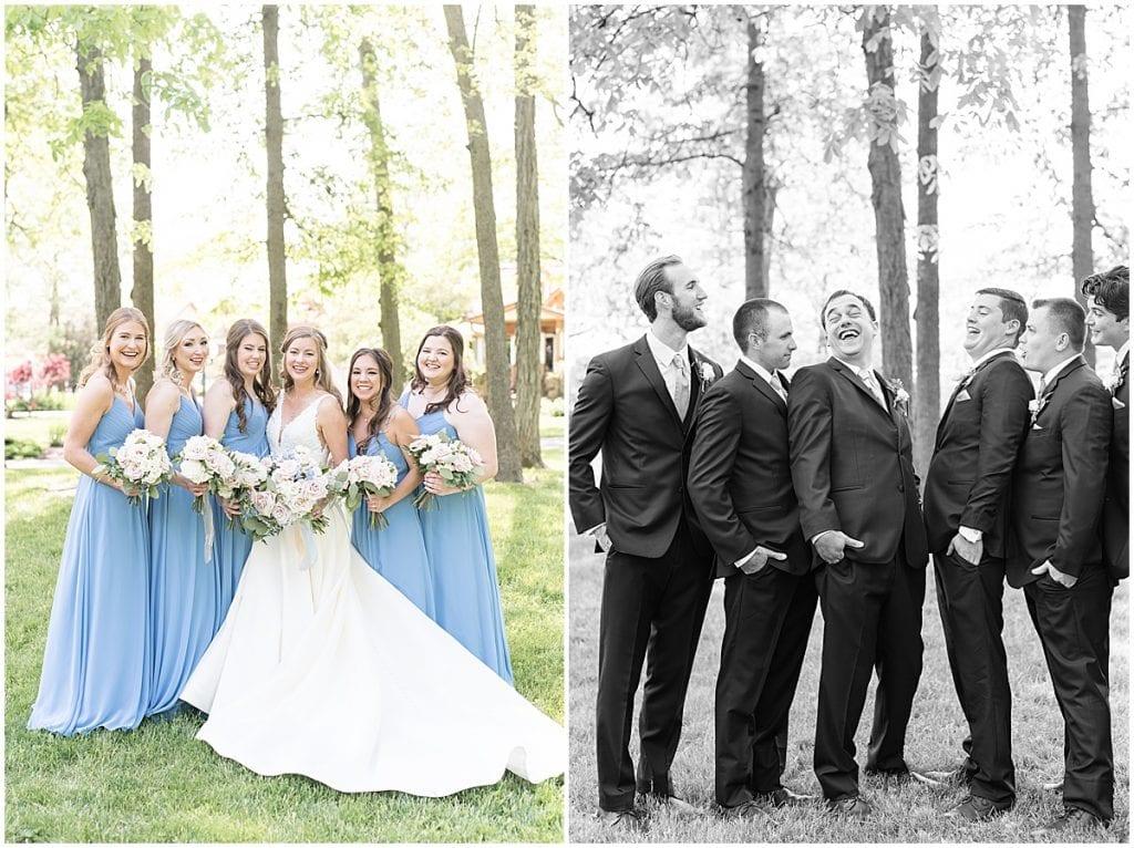 Bridal party photos at Lizton Lodge Wedding in Lizton, Indiana