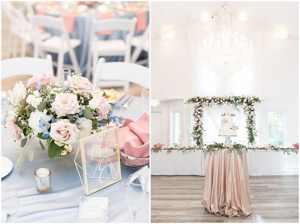 Reception details at Lizton Lodge Wedding in Lizton, Indiana