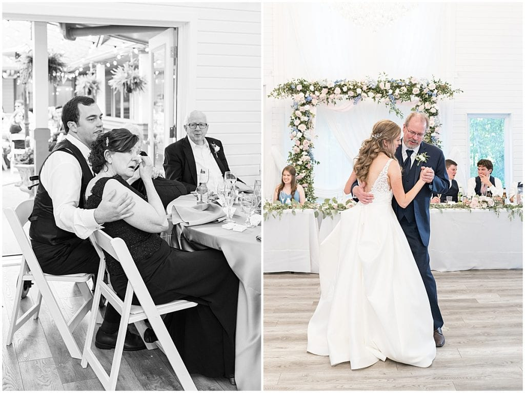 Father and Bride dance at Lizton Lodge Wedding in Lizton, Indiana