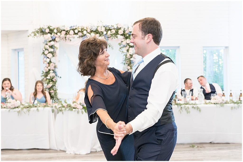 Mother and son dance at Lizton Lodge Wedding in Lizton, Indiana