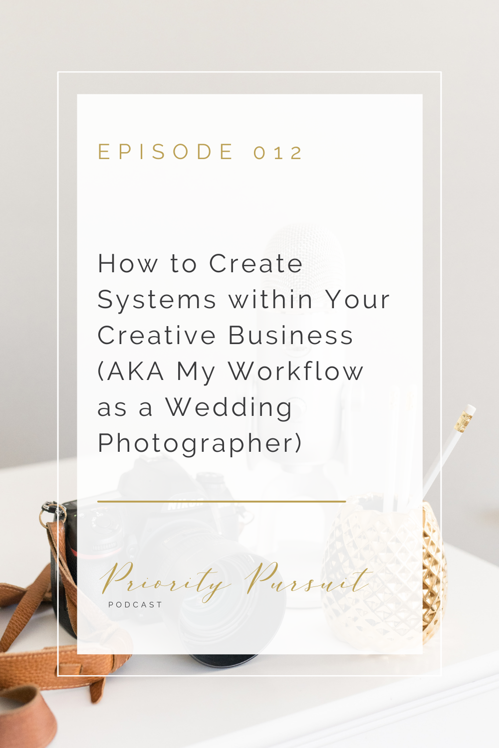 """Lafayette, Indiana Wedding Photographer Victoria Rayburn explains how to create systems within your creative business on """"The Priority Pursuit Podcast."""""""