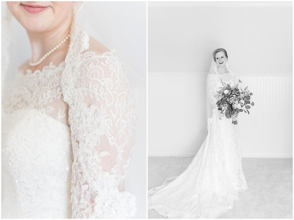 Bridal portraits at Traders Point Creamery wedding in Zionsville, Indiana