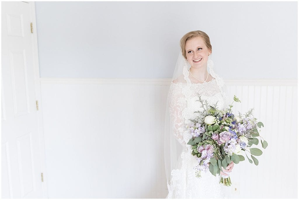 Bridal portrait at Traders Point Creamery wedding in Zionsville, Indiana