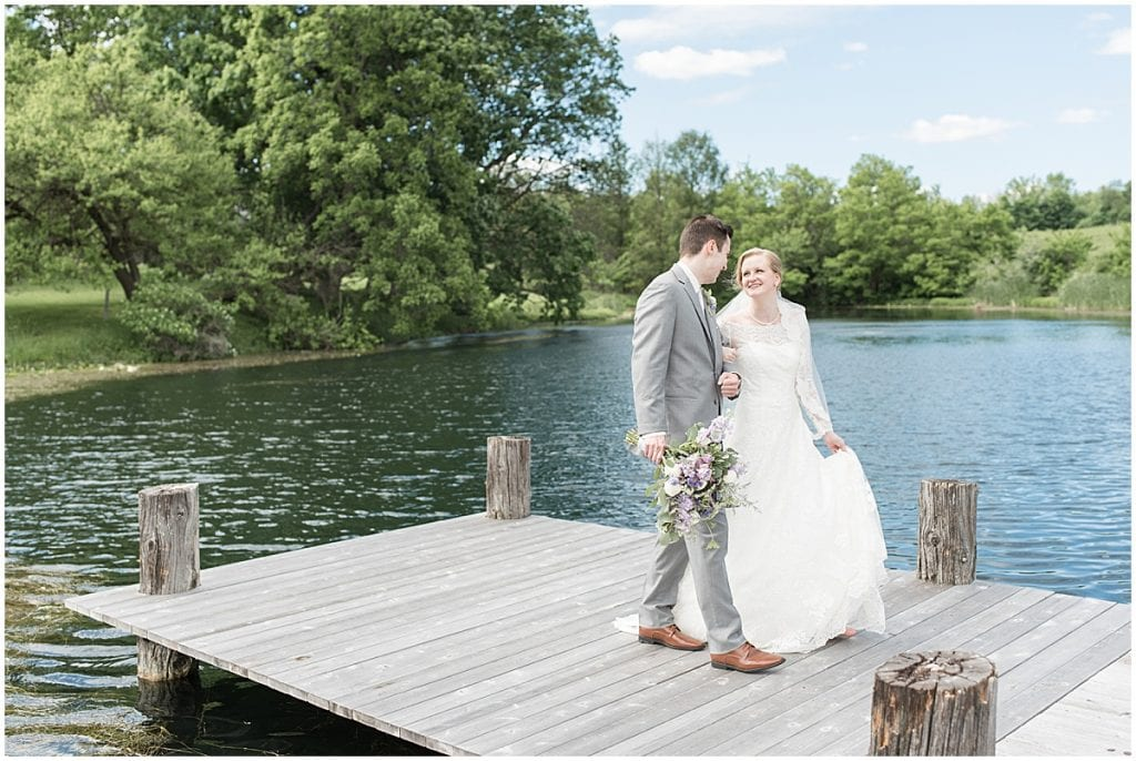 Bride and groom photo at Traders Point Creamery wedding in Zionsville, Indiana