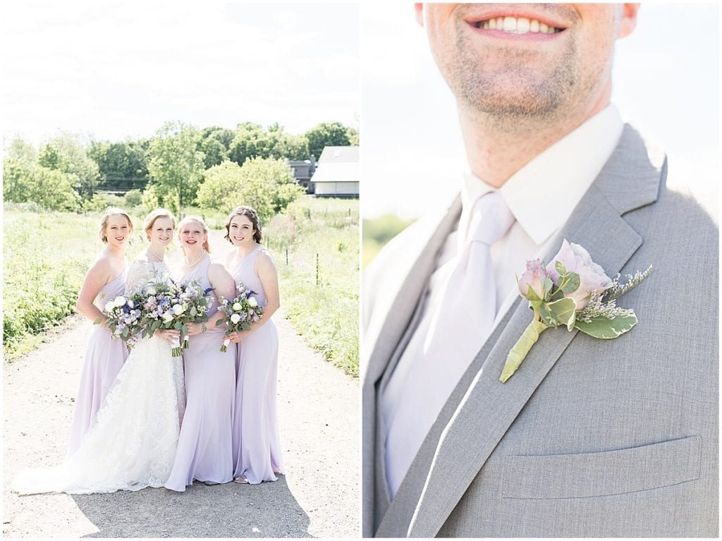 Bridesmaids ready for Traders Point Creamery wedding in Zionsville, Indiana