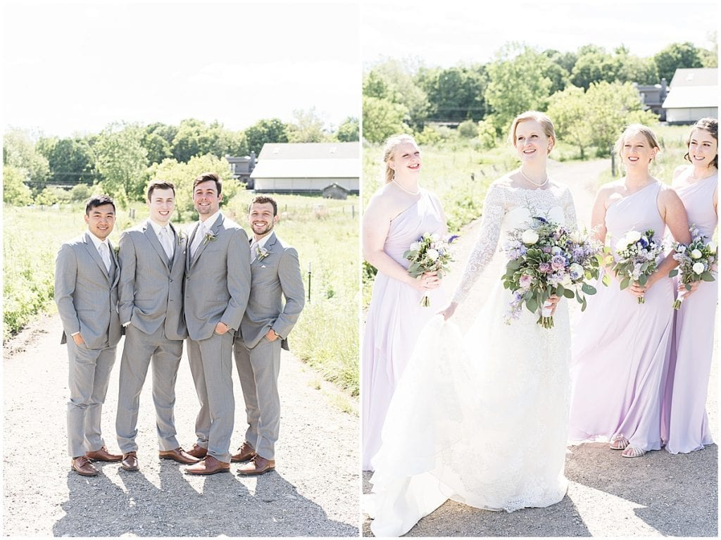Bridal party portraits at Traders Point Creamery wedding in Zionsville, Indiana