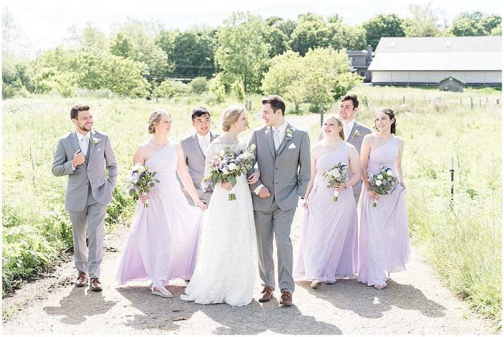 Wedding party photo at Traders Point Creamery wedding in Zionsville, Indiana