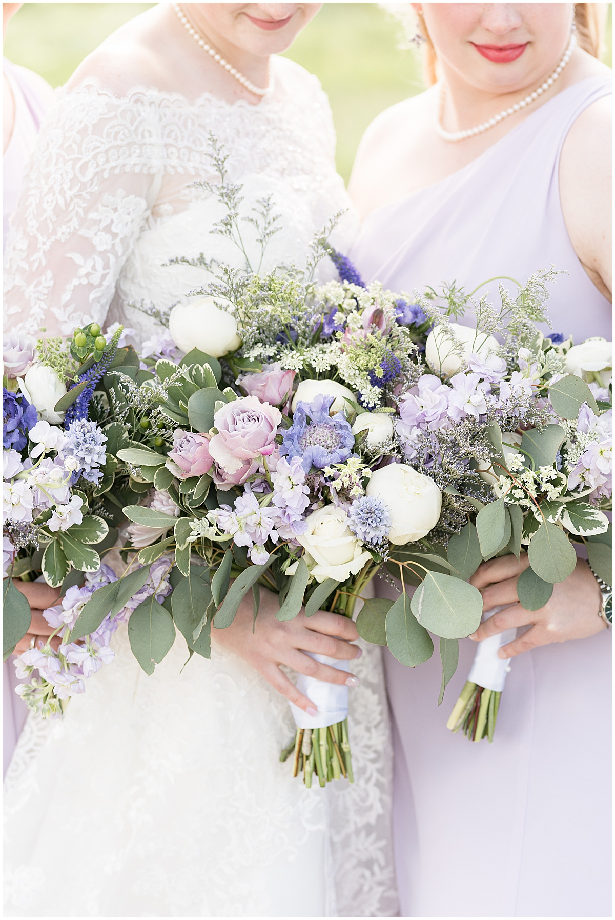 Floral bouquets for Traders Point Creamery wedding in Zionsville, Indiana