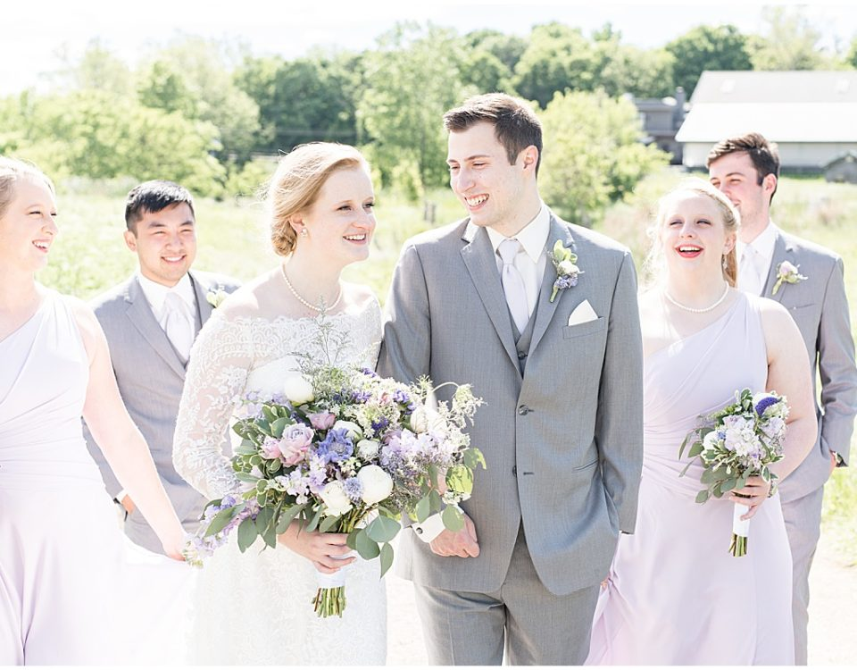 Bridal party photo at Traders Point Creamery wedding in Zionsville, Indiana