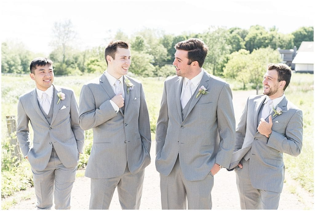 Groomsmen photo at Traders Point Creamery wedding in Zionsville, Indiana