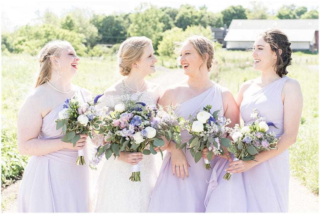 Bridesmaid photo at Traders Point Creamery wedding in Zionsville, Indiana