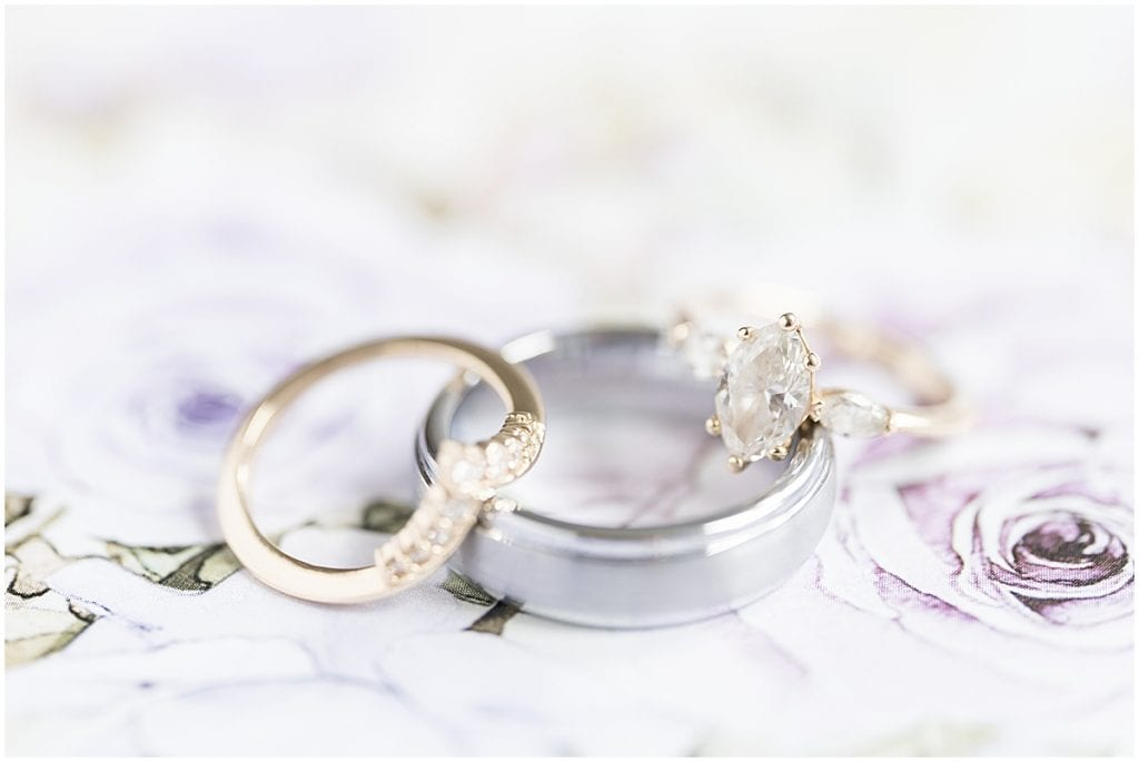 Ring photo at Traders Point Creamery wedding in Zionsville, Indiana