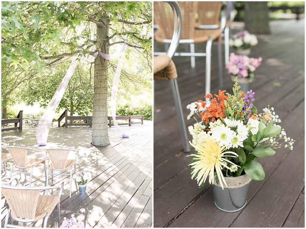 Ceremony details for Traders Point Creamery wedding in Zionsville, Indiana