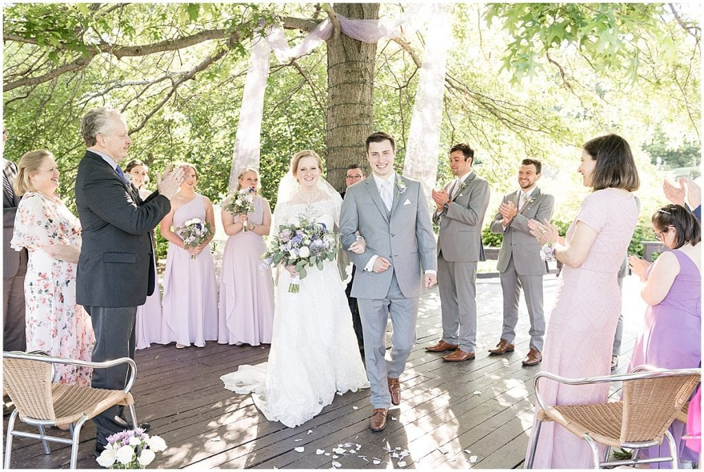 Wedding ceremony at Traders Point Creamery wedding in Zionsville, Indiana