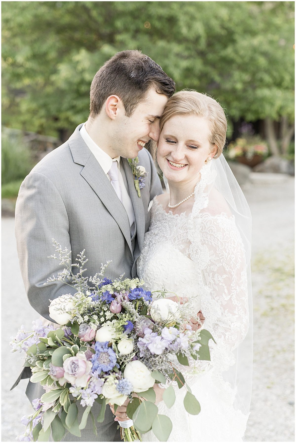 Bride and groom portrait at Traders Point Creamery wedding in Zionsville, Indiana