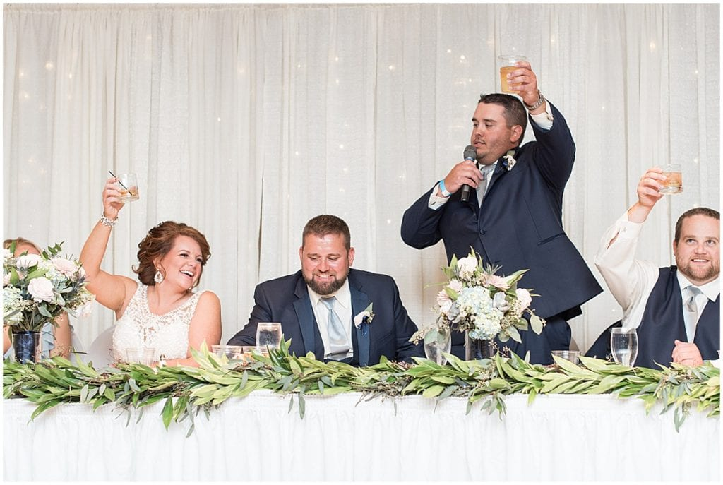 Best man's toast at a Brandywine in Monticello Indiana, Wedding at The Brandywine in Monticello Indiana, Brandywine Wedding in Monticello Indiana, Wedding in Monticello Indiana, Wedding Venue in Monticello Indiana