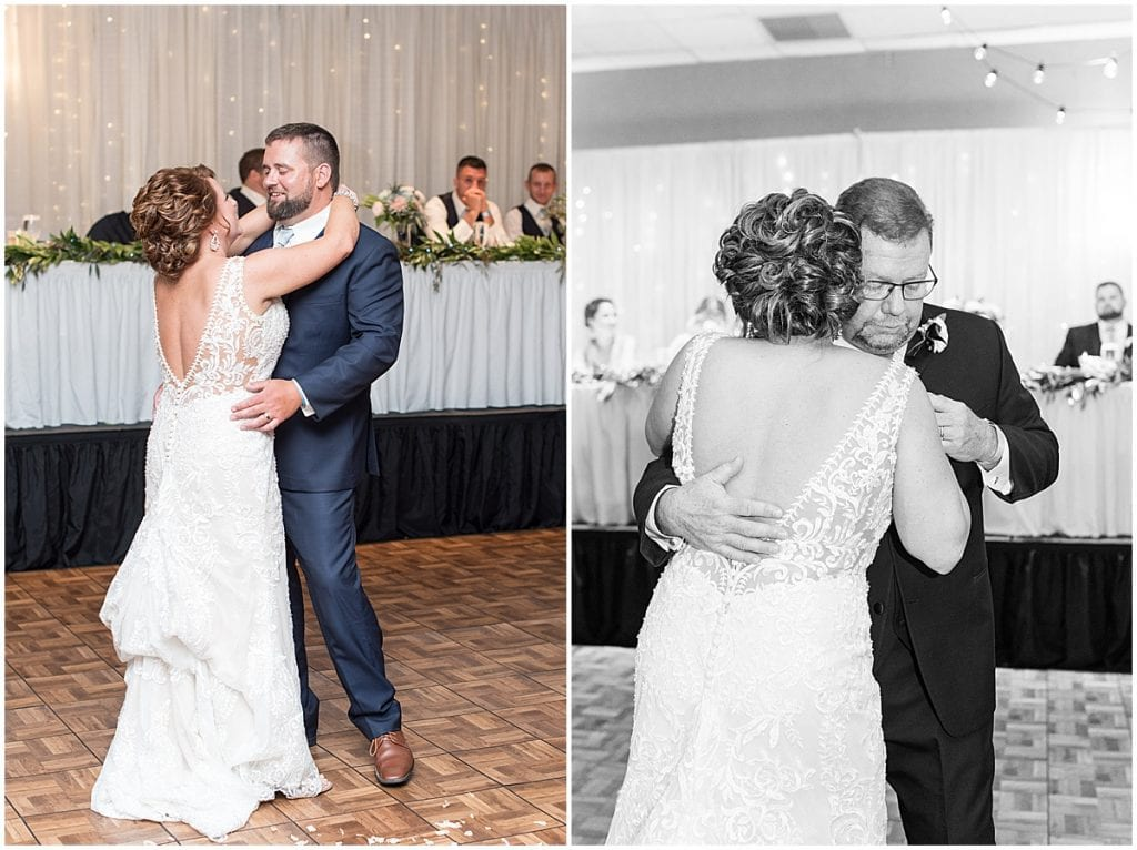 First dance photos at a Brandywine in Monticello Indiana, Wedding at The Brandywine in Monticello Indiana, Brandywine Wedding in Monticello Indiana, Wedding in Monticello Indiana, Wedding Venue in Monticello Indiana