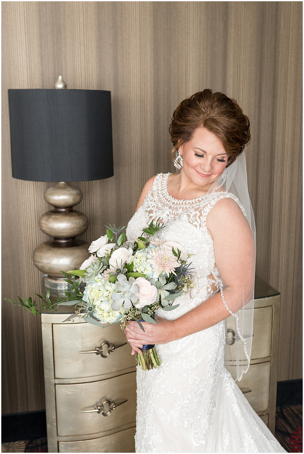 Bridal portraits at a wedding at The Brandywine in Monticello, Indiana