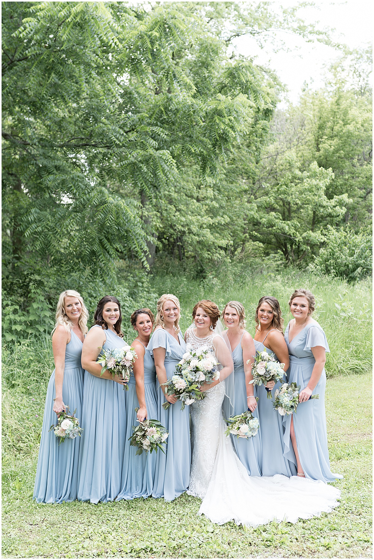 Bridesmaid photo at a wedding at The Brandywine in Monticello, Indiana