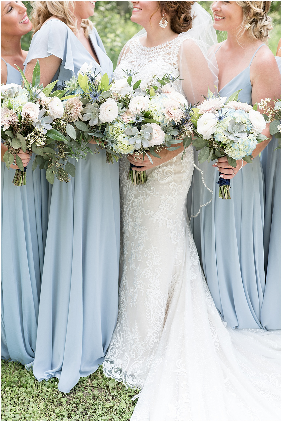 Bridesmaid details at a wedding at The Brandywine in Monticello, Indiana