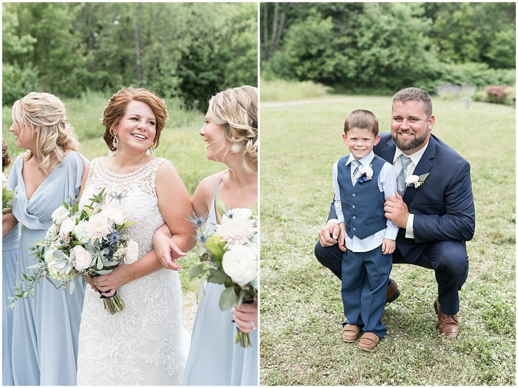 Wedding party photos at a wedding at The Brandywine in Monticello, Indiana