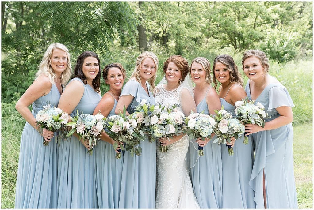 Bridesmaid portrait at a wedding at The Brandywine in Monticello, Indiana