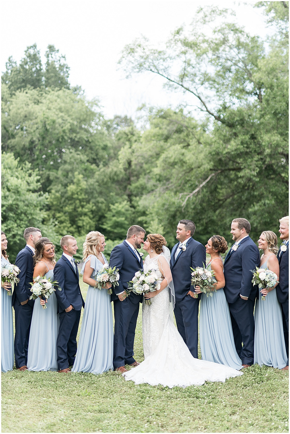 Bridal party photo at a wedding at The Brandywine in Monticello, Indiana