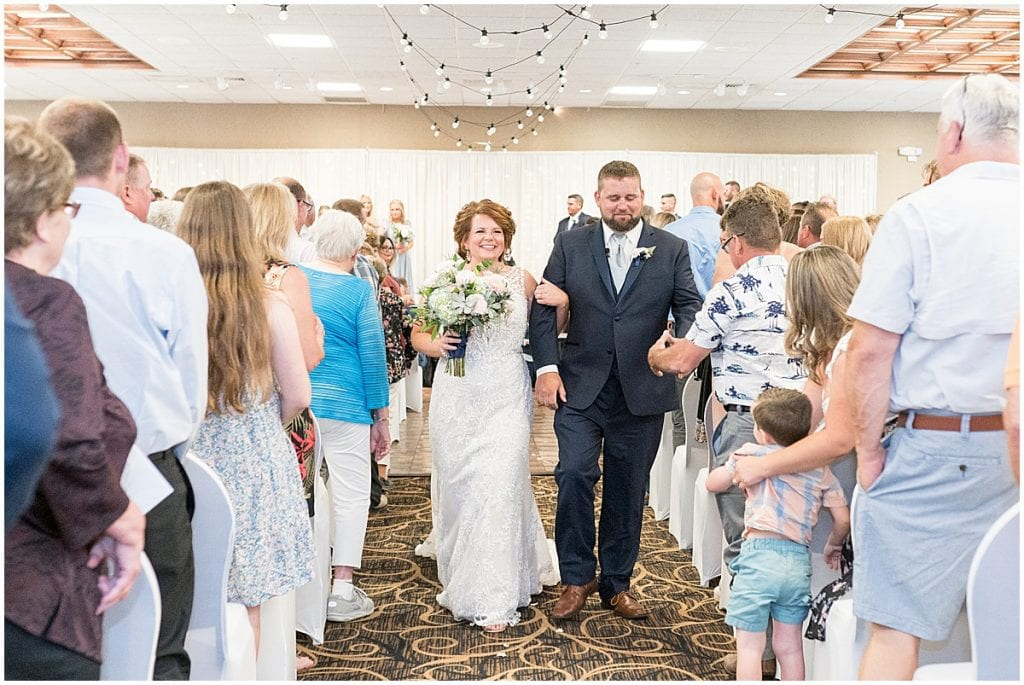 Ceremony photos at a wedding at The Brandywine in Monticello, Indiana