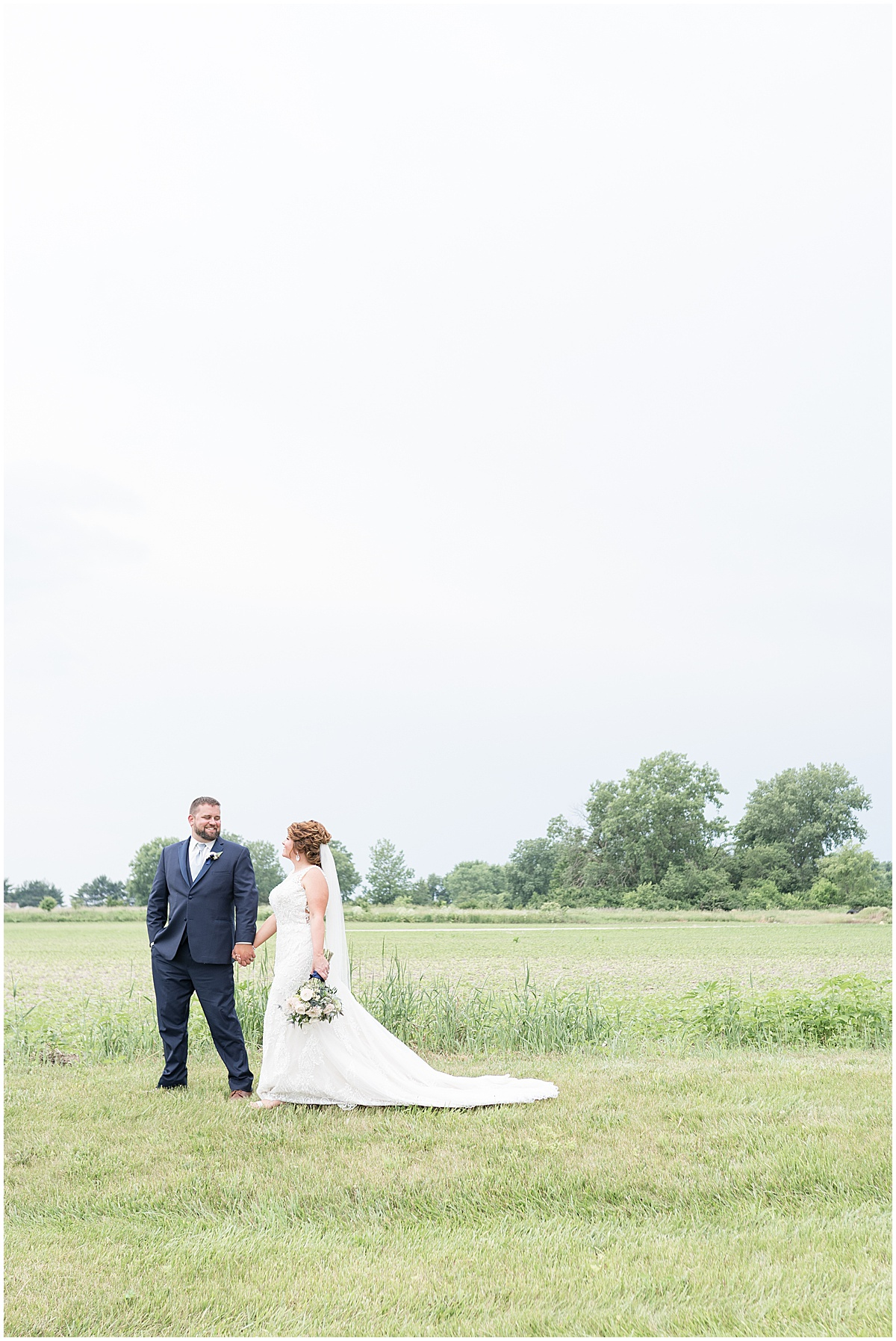 Bride and groom portrait at a wedding at The Brandywine in Monticello, Indiana
