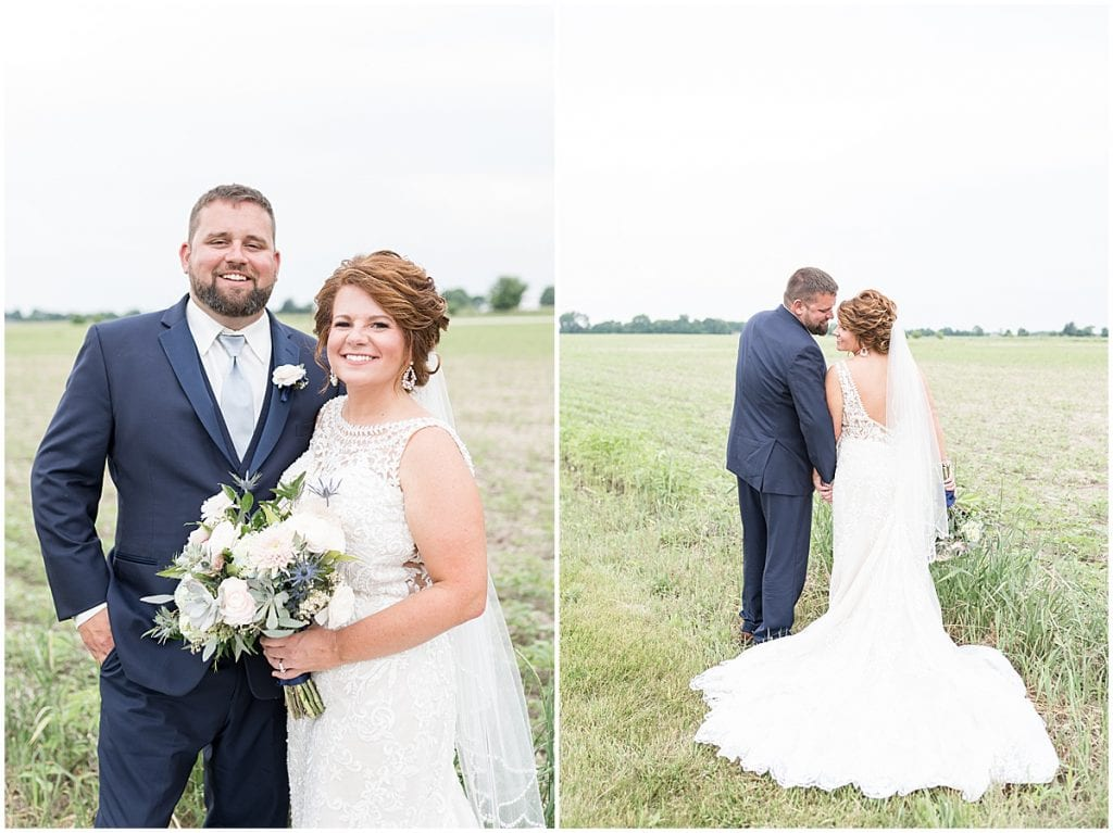 Bride and groom photos at a wedding at The Brandywine in Monticello, Indiana