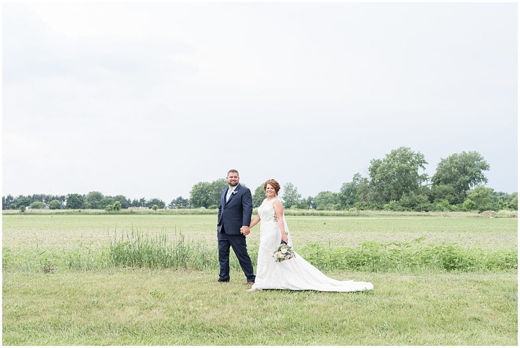 Bride and groom photo at a wedding at The Brandywine in Monticello, Indiana