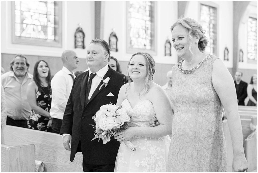 Wedding at Saint Mary's Catholic Church in Griffith, Indiana