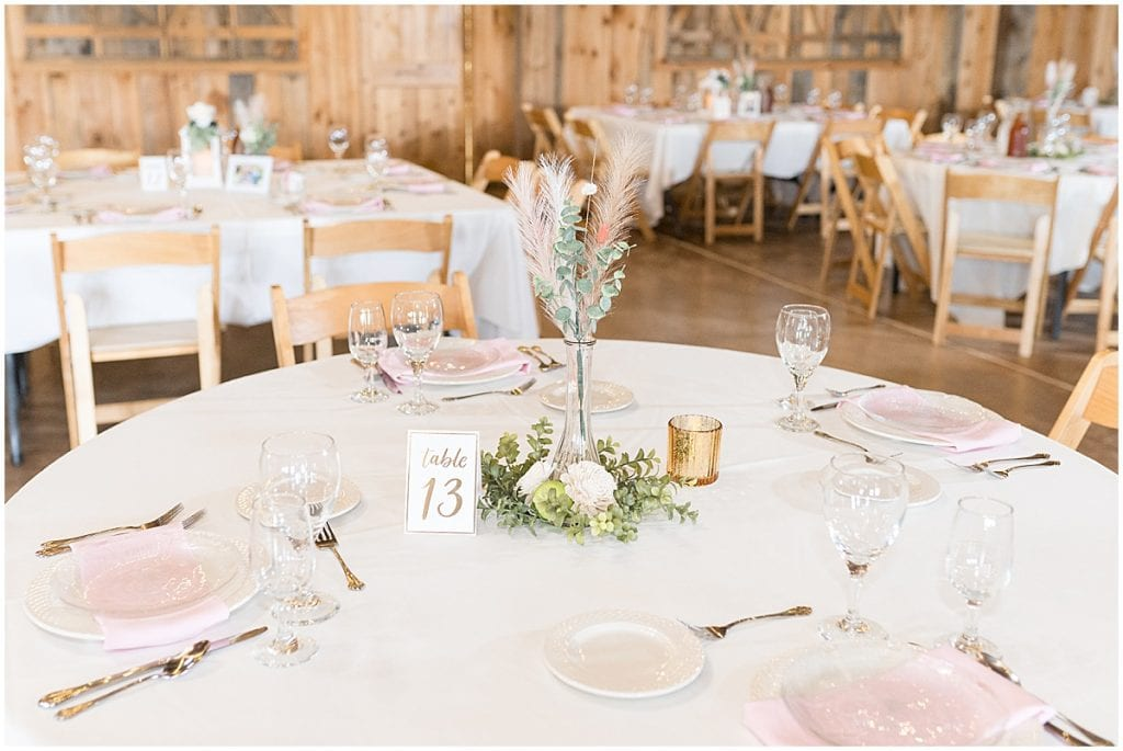 County Line Orchard wedding reception decor in Hobart, Indiana