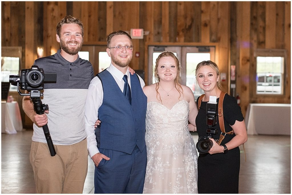 Victoria Rayburn Photography and Dustin Hibbler Videography with bride and groom