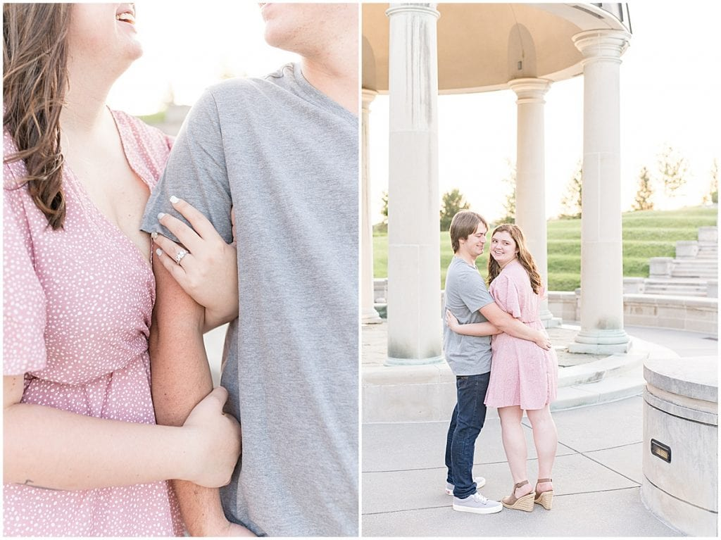 Engagement photos at Coxhall Gardens in Carmel, Indiana